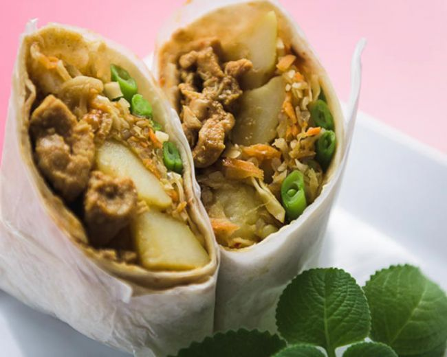 Chicken, Potato and Stir-fried Vegetables